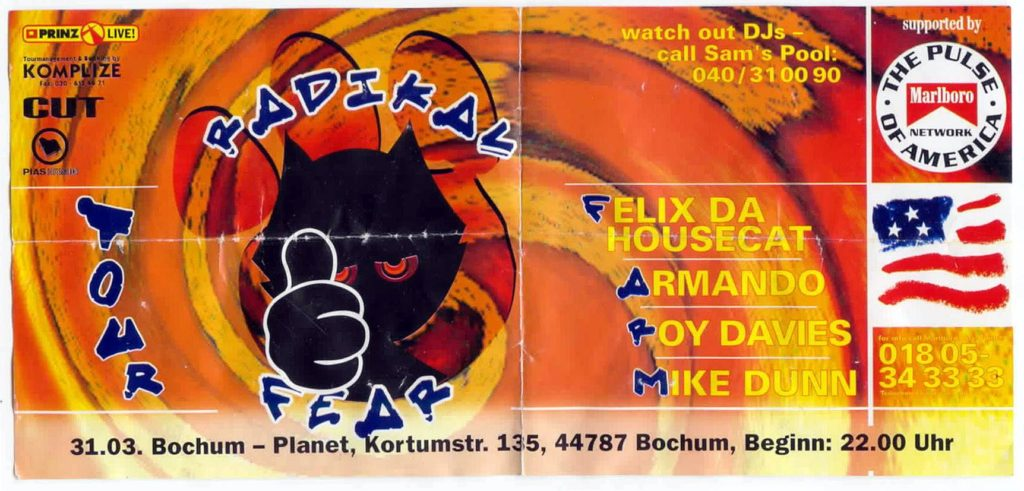 Radical Fear Tour Flyer